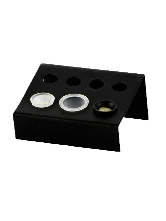 Metalowy stojak na kubeczki czarny
