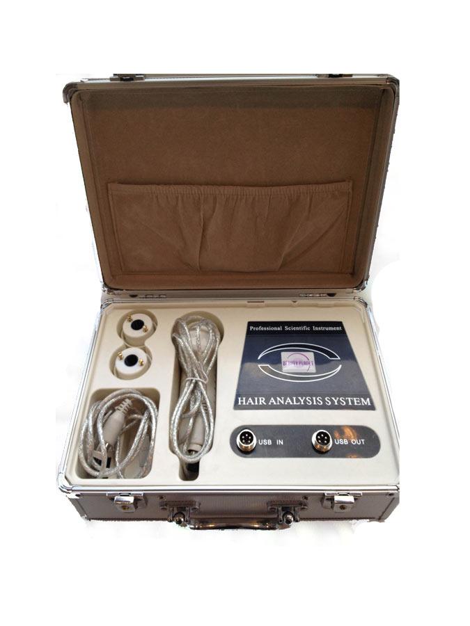 Analizator skóry oraz włosów z możliwością zapisu i wydruku zdjęć w czasie diagnozy