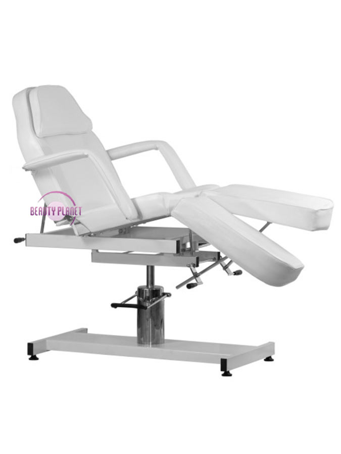 Hydrauliczny fotel kosmetyczny z regulowanymi podnóżkami