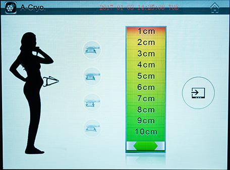 Cryocell kriolipoliza ekran