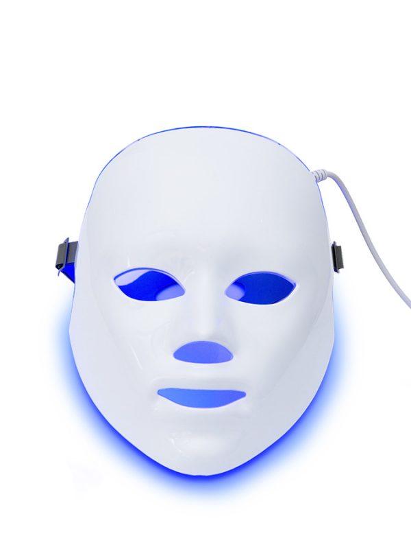 maska led niebieskie światło