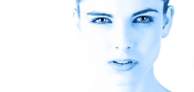 twarz klientki obszar zabiegowy