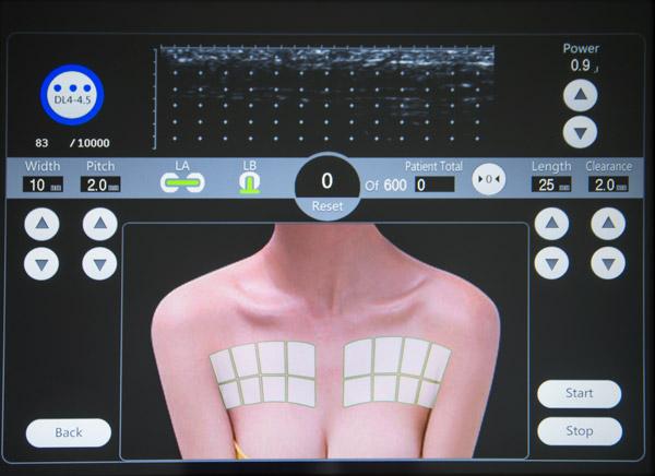 ekran menu pracy w trybie automatycznym