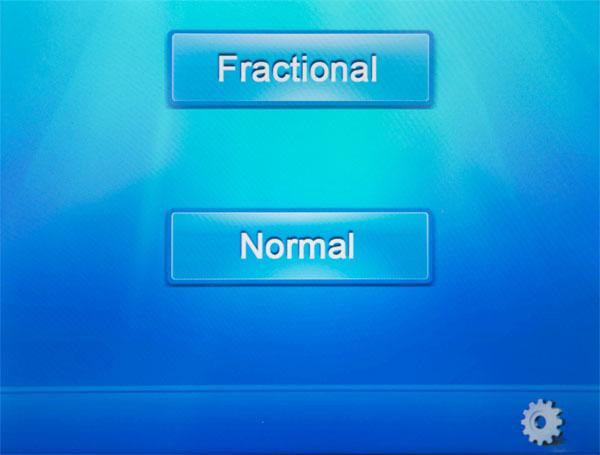 wybór frakcyjnego lub chirurgicznego trybu pracy w nowym laserze co2